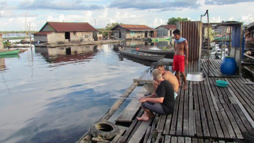Borneo, Indonézia - jazero Sentarum