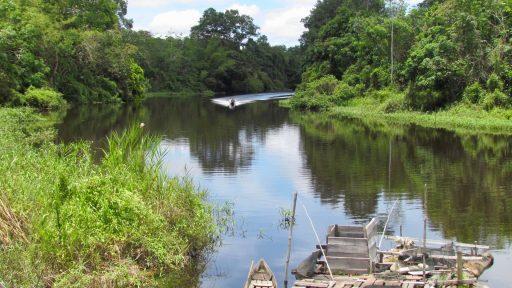 Borneo, Indonézia - rieka Kapuas