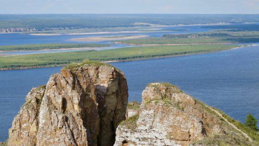 Lenské piliere a rieka Lena